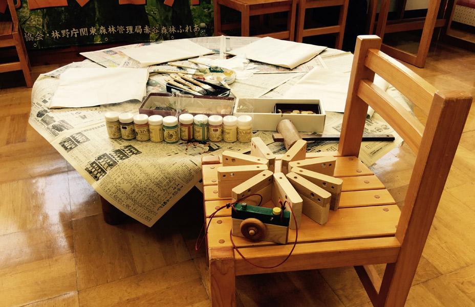 「森のトイカメラ作り」<BR>木育ワークショップ